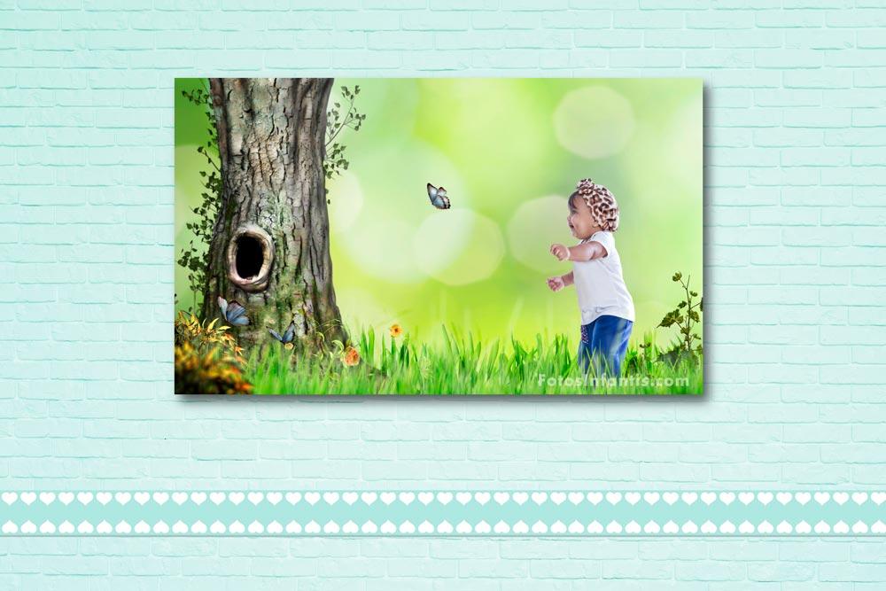 Foto Tela para Decoração de Quarto Infantil